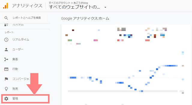 Googleアナリティクス ホーム画面